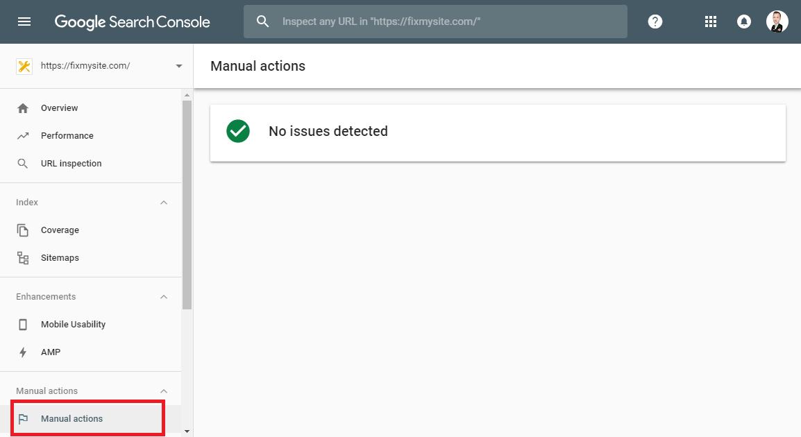 Google - Manual Actions